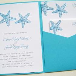 Pocketfold Wedding Invitations - By the Sea Signature Pocketfold Invitation Suite
