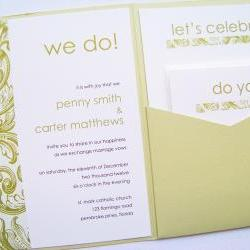 Pocketfold Wedding Invitations - Modern Baroque Signature Pocketfold Invitation Suite