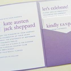 Pocketfold Wedding Invitations - Modern Names Signature Pocketfold Invitation Suite